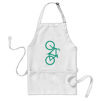 Big Green Bicycle Adult Apron