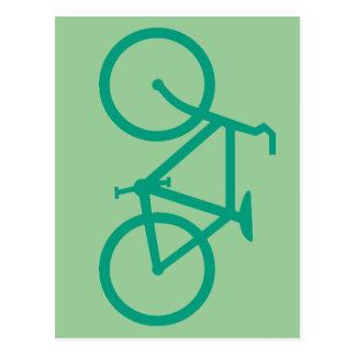 Big Green Bicycle Postcard