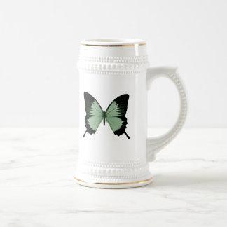 Big Green & Black Butterfly Beer Stein