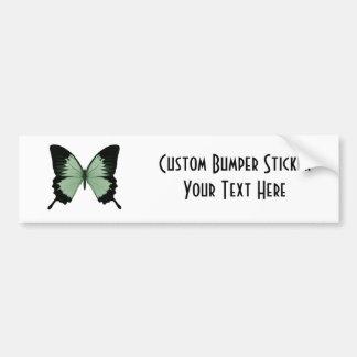 Big Green & Black Butterfly Car Bumper Sticker