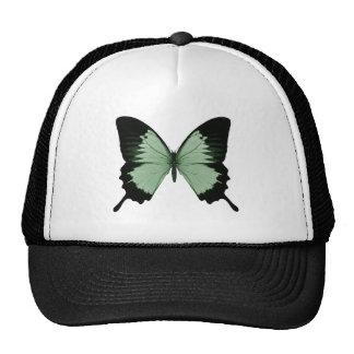 Big Green & Black Butterfly Trucker Hat