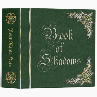 Big Green Book of Shadows 3 Ring Binder