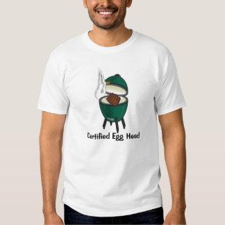 Big Green Egg, cabeza certificada del huevo Playera