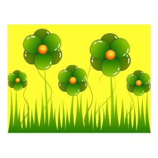 Big green flowers - Customized Postcard
