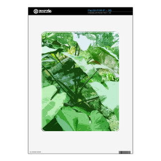 big green leafy plant decal for the iPad