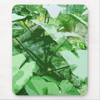 big green leafy plant mouse pad