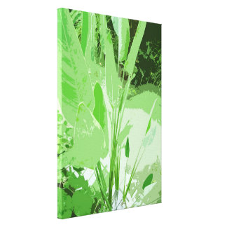 big green leafy water plant gallery wrap canvas