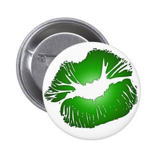 Big Green Lips Button