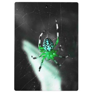 Big Green Orb Spider Clipboards