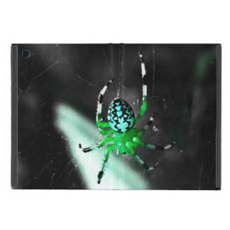 Big Green Orb Spider Cover For iPad Mini