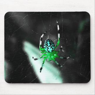 Big Green Orb Spider Mousepad