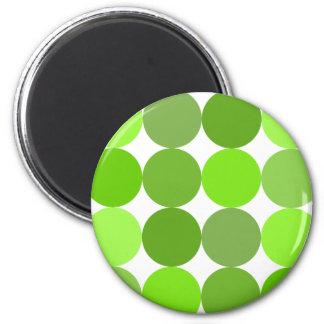 Big Green Polka Dots 2 Inch Round Magnet