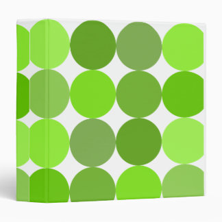 Big Green Polka Dots 3 Ring Binder