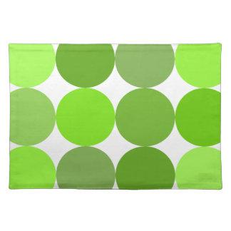 Big Green Polka Dots Placemat