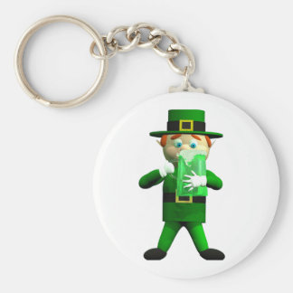 Big Green St. Patrick's Day Beer Keychain