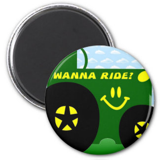 BIG GREEN TRACTOR 2 INCH ROUND MAGNET