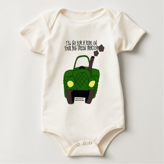 Big Green Tractor Baby Bodysuit