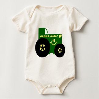 BIG GREEN TRACTOR BABY BODYSUIT