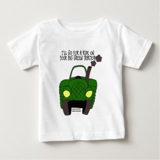 Big Green Tractor Baby T-Shirt