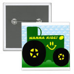 BIG GREEN TRACTOR BUTTON