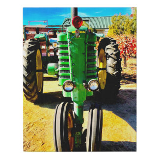 Big Green Tractor Faux Canvas Print