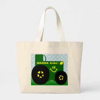 BIG GREEN TRACTOR LARGE TOTE BAG
