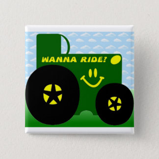 BIG GREEN TRACTOR PINBACK BUTTON