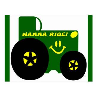 BIG GREEN TRACTOR POSTCARD