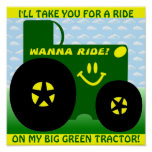 BIG GREEN TRACTOR POSTER