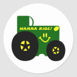 BIG GREEN TRACTOR ROUND STICKERS