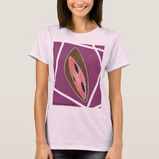 Big Green Woman's Purpularn Pink Rox Racing Saucer T-Shirt