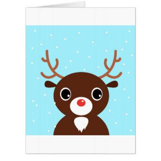 Big greeting card with Reindeer