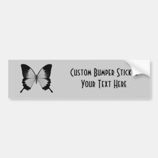 Big Grey & Black Butterfly Car Bumper Sticker