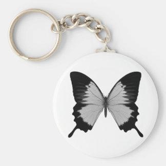 Big Grey & Black Butterfly Keychain