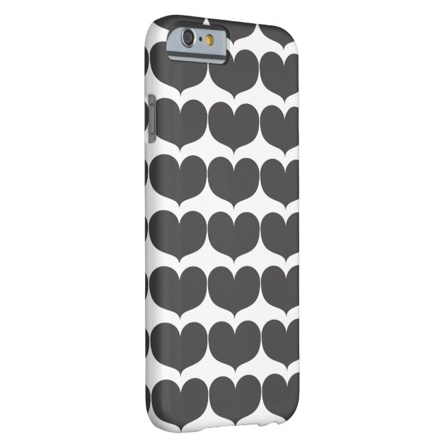 Big Grey Heart iPhone 6/6s Barely There Phone Case