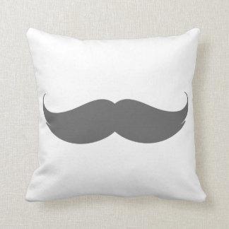 Big Grey Moustache Cushion Pillows