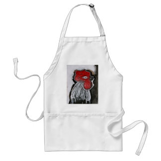 BIG GREY ROOSTER ADULT APRON