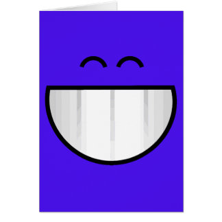 big grin happy face card