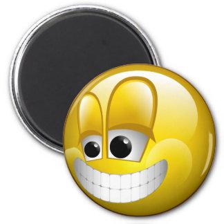 BIG GRIN SMILEY FACE MAGNET