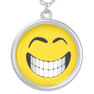 BIG GRIN SMILEY FACE NECKLACE