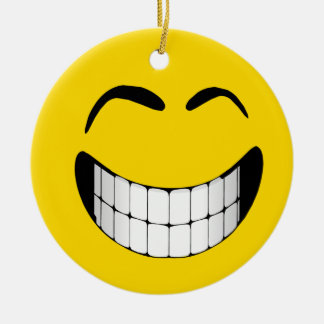 BIG GRIN SMILEY FACE ORNAMENT