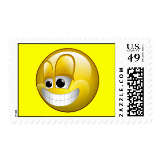 BIG GRIN SMILEY FACE POSTAGE