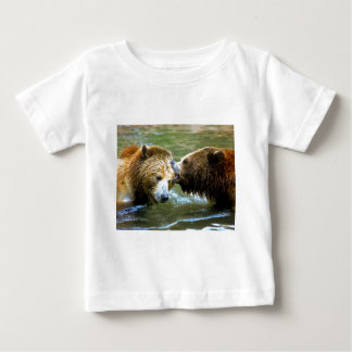 Big Grizzly Bear Kiss Baby T-Shirt