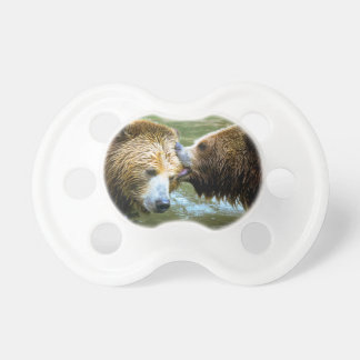 Big Grizzly Bear Kiss BooginHead Pacifier