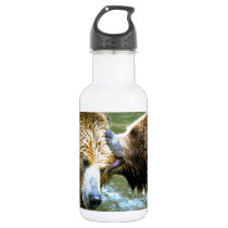 Big Grizzly Bear Kiss Water Bottle