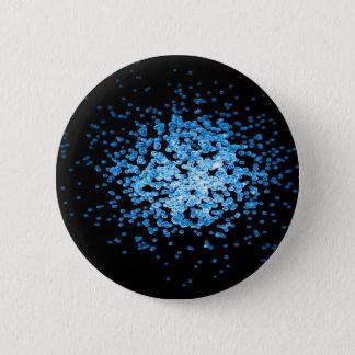 Big group of blue viruses on mycorscope button