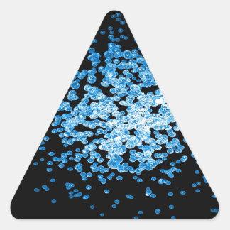 Big group of blue viruses on mycorscope triangle sticker