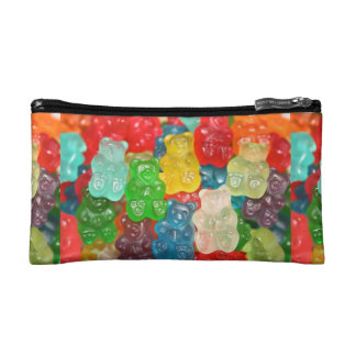 Big gummy bears pattern for big & small,candy,fun, cosmetic bags