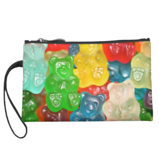 Big gummy bears pattern for big & small,candy,fun, wristlet clutches