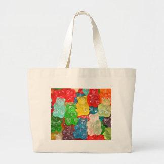 Big gummy bears pattern for big & small,candy,fun jumbo tote bag